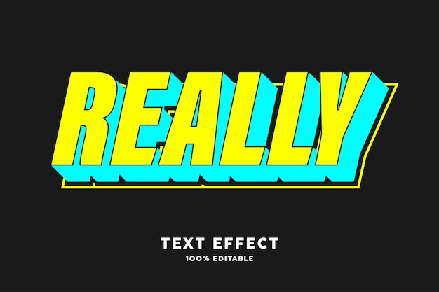 Yellow cyan fresh color pop art text effect