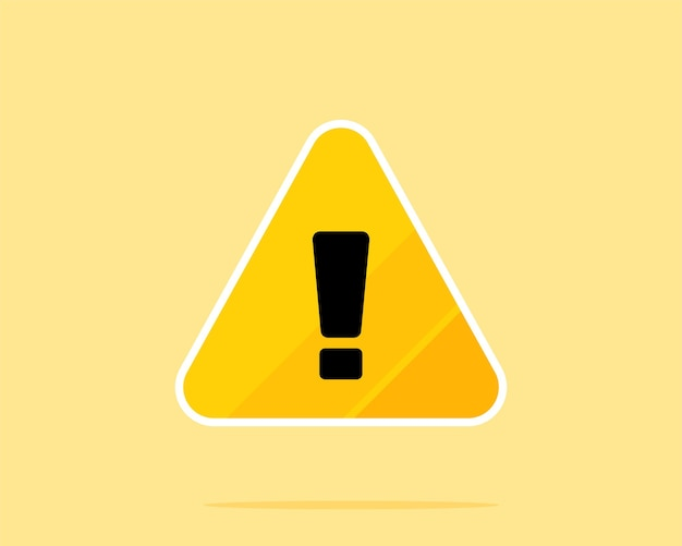 黄色の危険警告サインベクトルアートイラスト