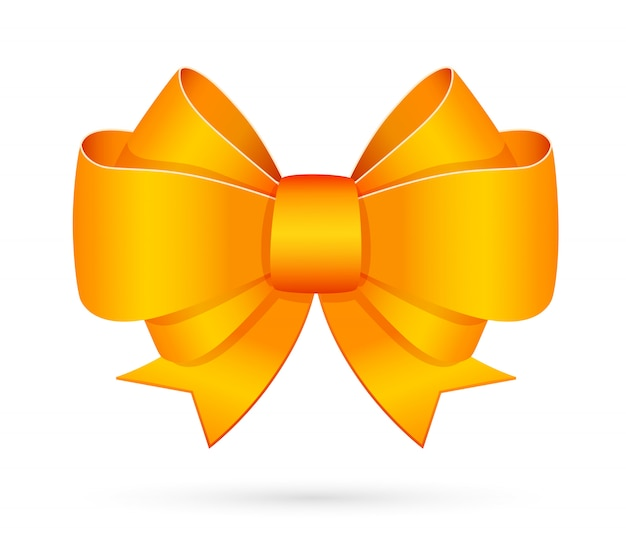 Yellow decorative bow emblem