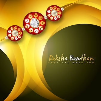 Yellow design for raksha bandhan