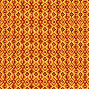 Yellow diamond shapes geometric groovy pattern