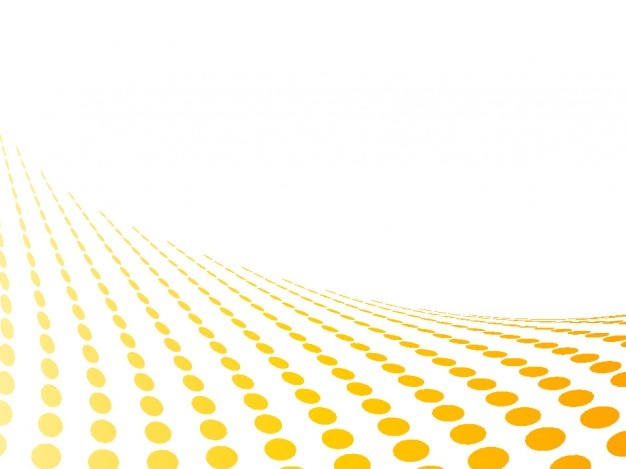Yellow dots perspective in abstract white background