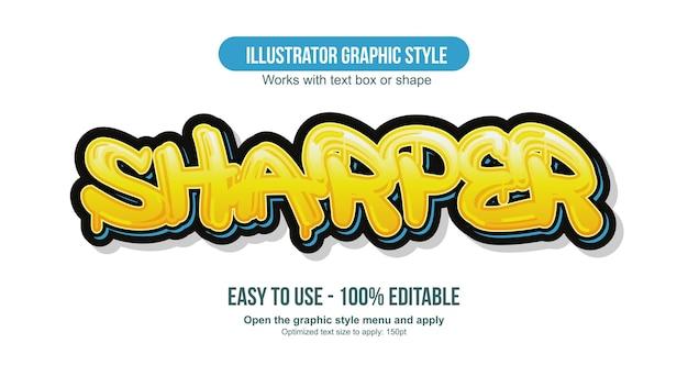 Yellow dripping graffiti text style