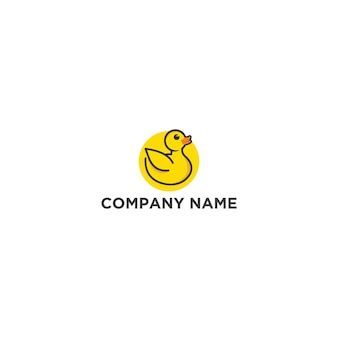 Шаблон логотипа yellow duck