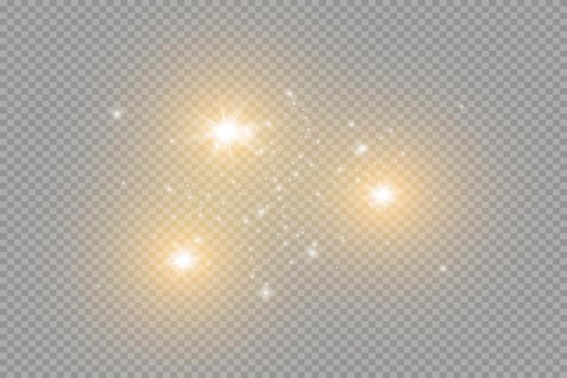 황사 아름다운 빛이 깜박입니다 먼지 입자가 우주에서 날아갑니다
