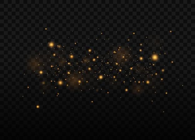 黄砂美しい光が点滅する塵の粒子が宇宙を飛ぶ