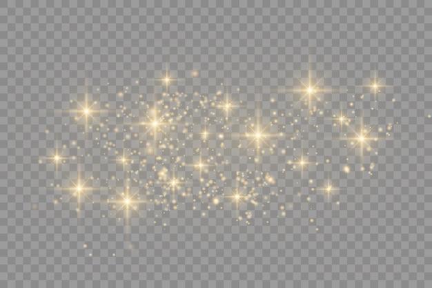 黄砂。美しい光が点滅します。ほこりの粒子