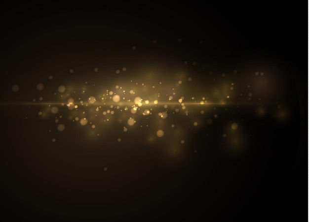 Yellow dust. dust particles fly.