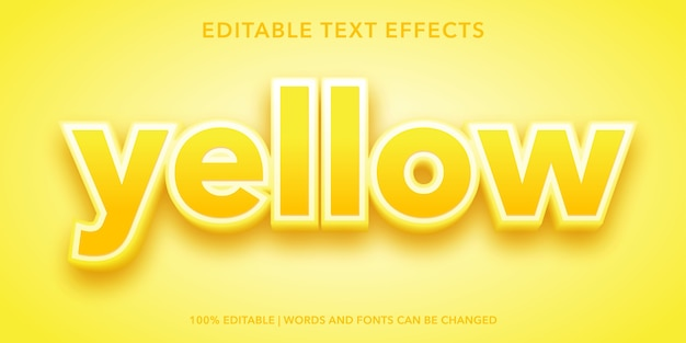 Yellow editable text effect