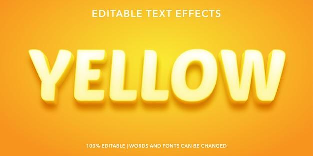 黄色の編集可能なテキスト効果