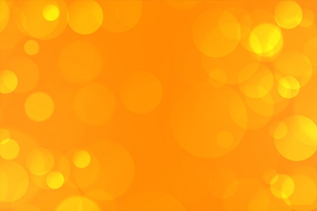 Yellow elegant bokeh lights background lovely