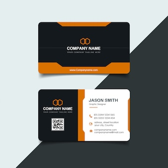 Yellow elegant corporate card template