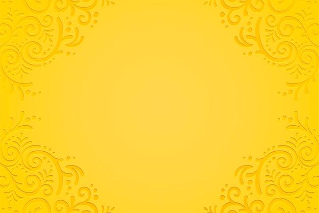 노란색 양각 된 식물 포도 나무 배경