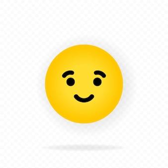 黄色の絵文字アイコン。喜び。絵文字を笑っています。笑顔の絵文字で幸せそうな顔。チャット、コメント。