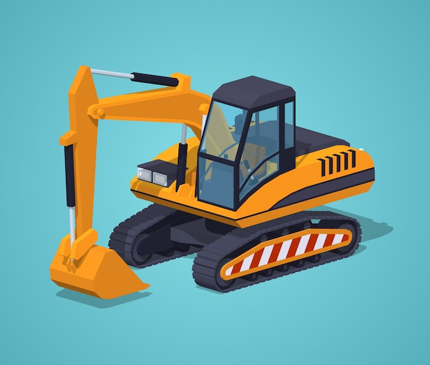 Yellow excavator. special machinery
