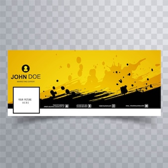 Yellow facebook banner for timeline