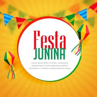 Splendida festa junina saluto design con ghirlande