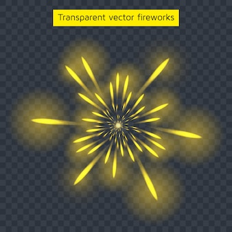 Yellow fireworks
