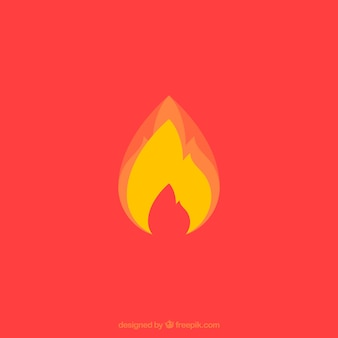 Желтое пламя на красном фоне