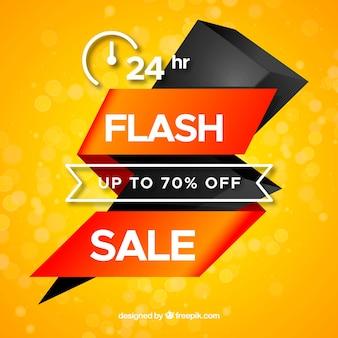 Yellow flash sale background