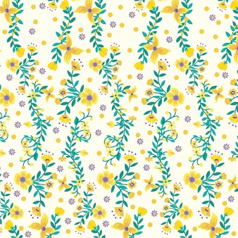 黄色い植物の自然の背景、花柄の壁紙とプリント