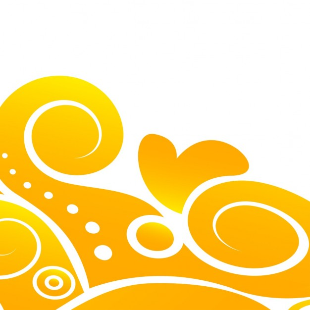 Yellow floral abstract background