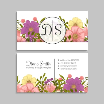 Yellow flower business cards