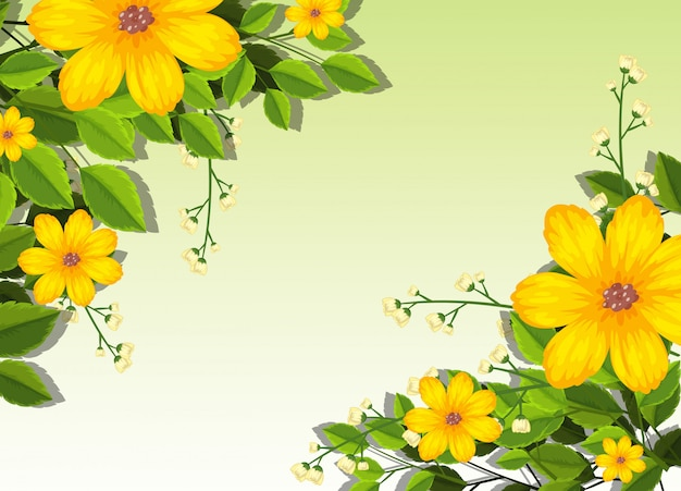 Yellow flowers background scene