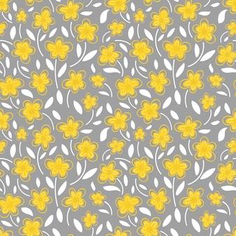 데이지 원활한 패턴 일러스트의 노란 꽃
