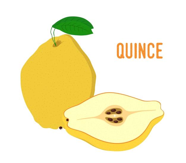 Yellow fruit juicy quince