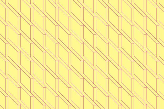 Желтый геометрический фон, абстрактный узор красочный дизайн вектор