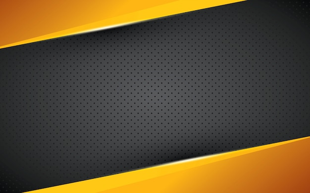 Yellow geometric background overlap layer