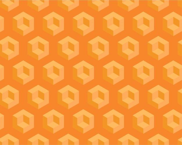 Yellow geometric seamless pattern