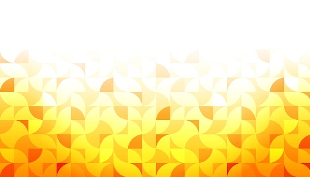 Yellow geometric shape background