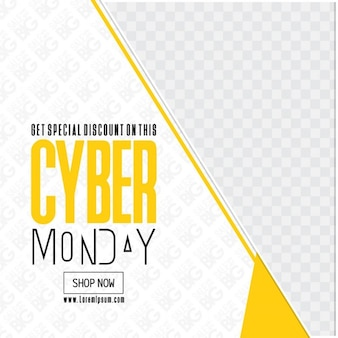 Yellow geometric template, cyber monday