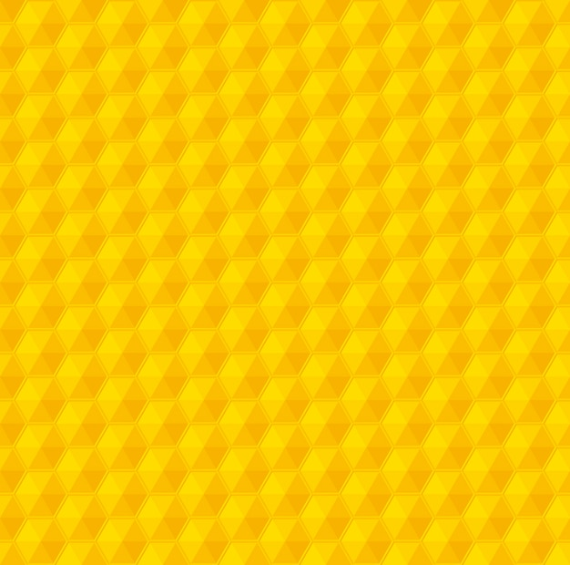 Yellow geometry honeycomb vector seamless pattern