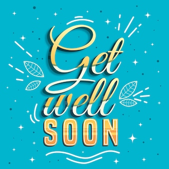 Yellow get well soon lettering