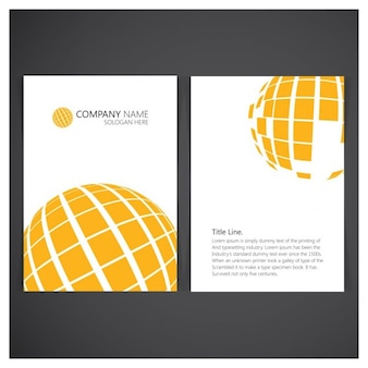 Disegno arancione globe affari brochure