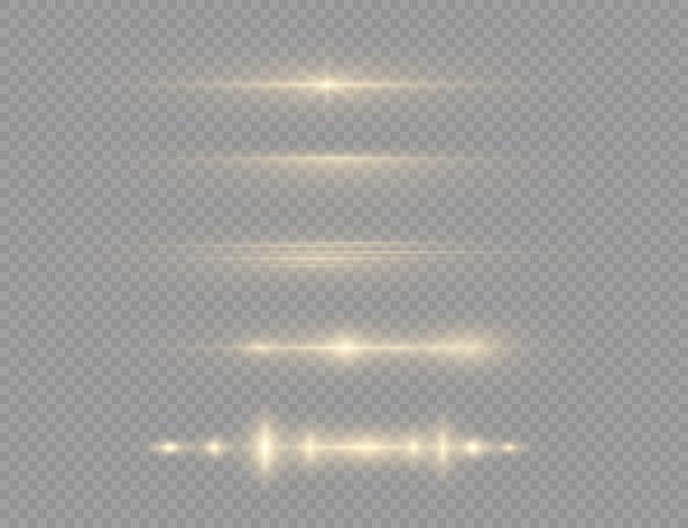 透明な背景に黄色の光が爆発する