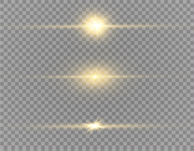 Yellow glowing light explodes on a transparent background. sparkling magical dust particles. bright star. transparent shining sun, bright flash.  sparkles. to center a bright flash.
