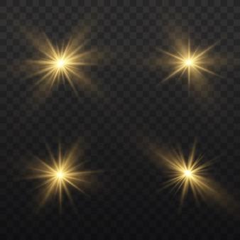 黄色の光るライトセット