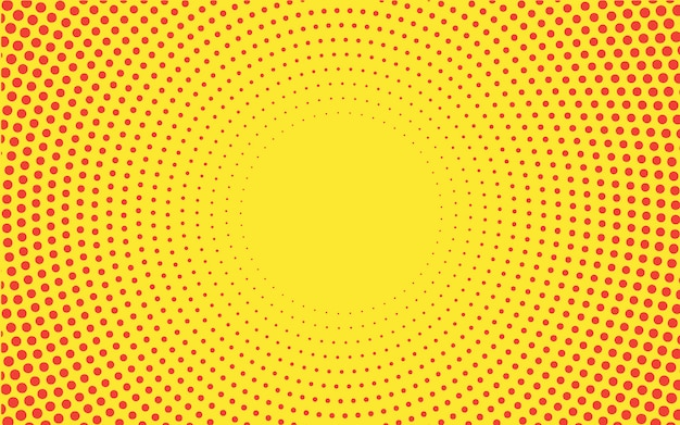 Yellow gradient halftone background vector