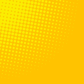 黄色のグラデーションハーフトーンの背景