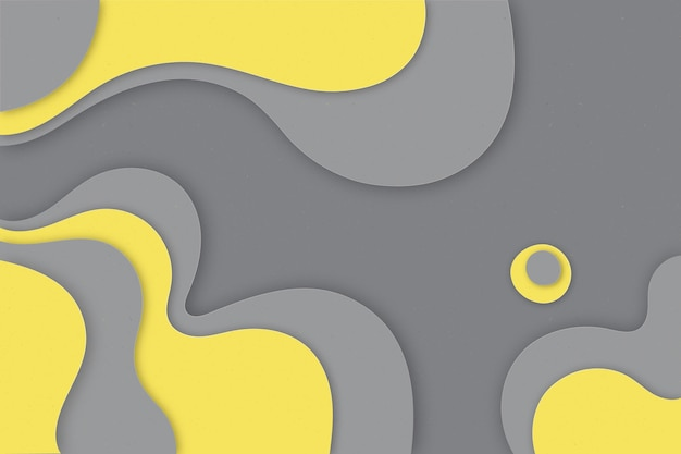 Yellow and gray paper style background