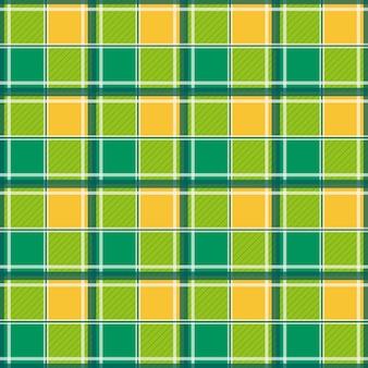 黄色の緑の白いチェス盤の背景