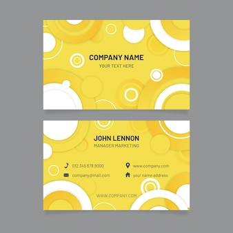 Yellow and grey business card template
