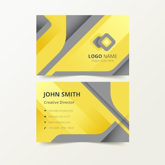 Yellow and grey business card