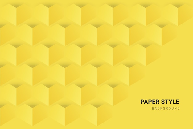 Yellow and grey in paper style wallpaper