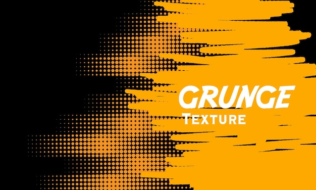 Yellow grunge background with halftone detailed