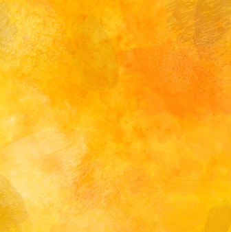Желтый гранж-фон с акварелью и мазками